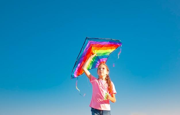 Meisje met een vlieger