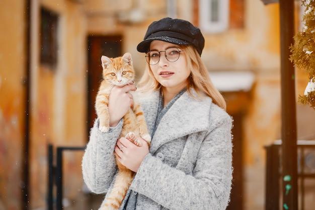 Meisje met kat