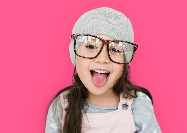 Meisje met plezier portret