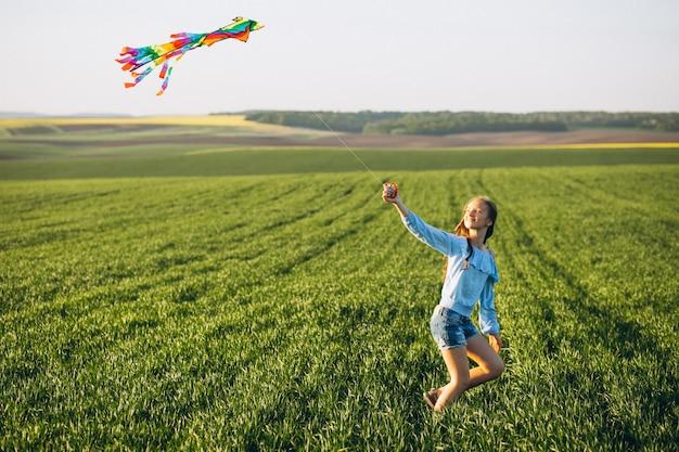 Meisje met vlieger