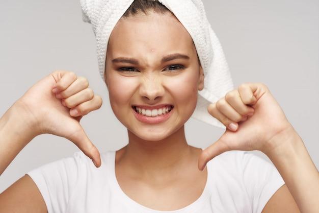 Meisje portret huidverzorging
