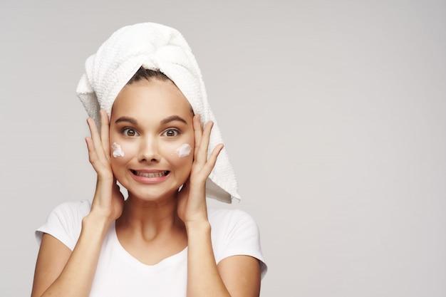 Meisje portret studio huidverzorging