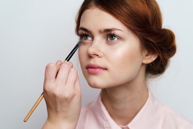 Meisje zet make-up