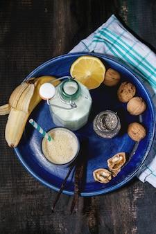 Melk banaan smoothie