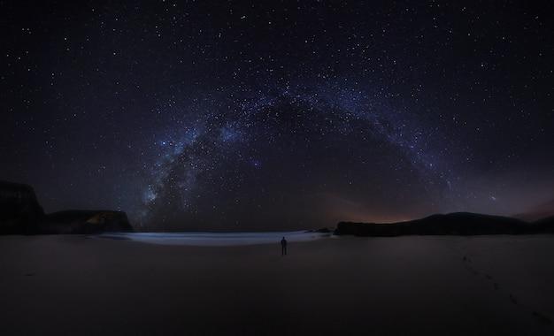 Melkweg aan de portugese kust