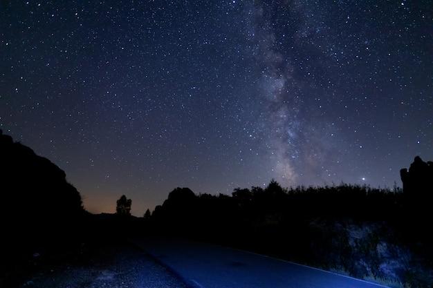 Melkweg in de zomer in spanje