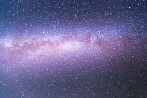 Melkweg met sterren en ruimtestof in het universum. astronomie.