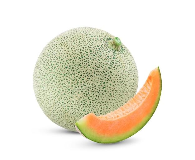 Meloen geïsoleerd op wit. volledige scherptediepte