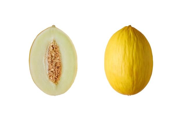 Meloen geïsoleerd op wit.