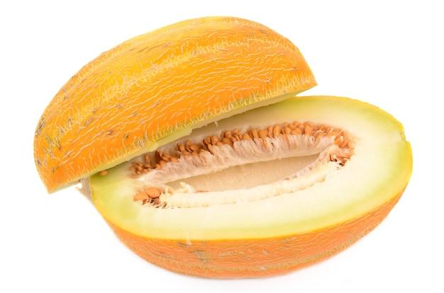 Meloen geïsoleerd op wit