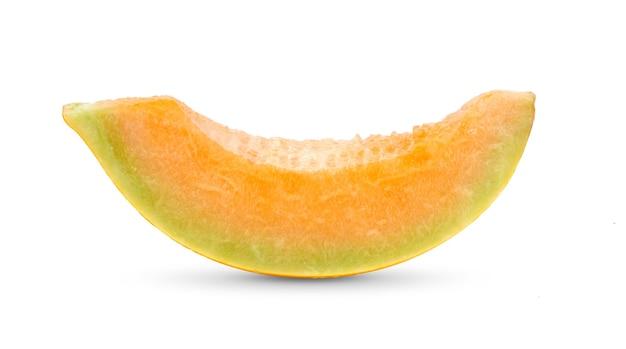 Meloen meloen geïsoleerd op een witte achtergrond. volledige scherptediepte