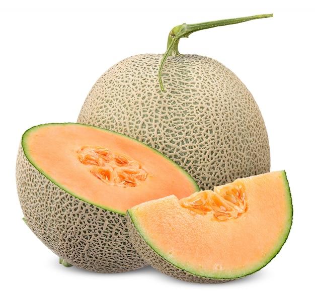 Meloen met het knippen van weg wordt geïsoleerd die