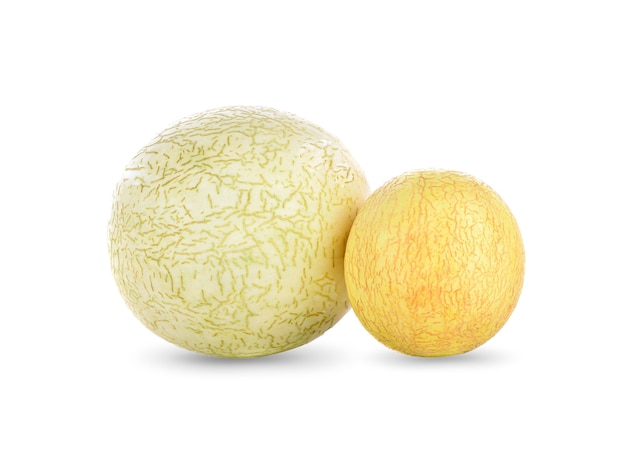 Meloen op het witte oppervlak