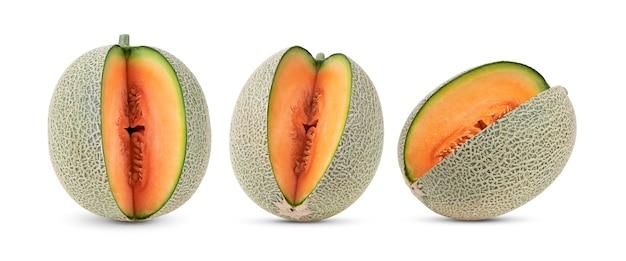 Meloenmeloen geïsoleerd op witte achtergrond