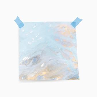Memo pap met blauwe aquarel achtergrond