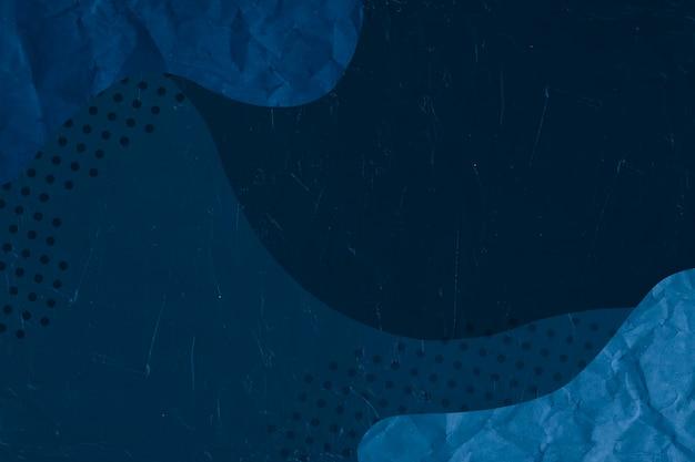 Memphis patroon blauw papier achtergrond Premium Foto