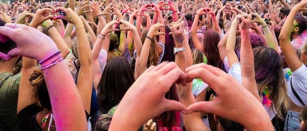 Menigte van fans op concert