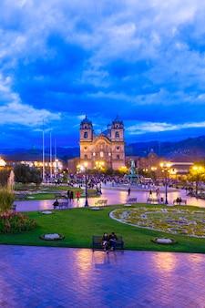 Mening van de kathedraalkerk van cuzco