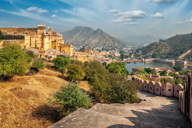 Mening van fort amer (amber), rajasthan, india