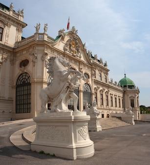 Mening van het belvedere, historisch de bouw complex in wenen, oostenrijk
