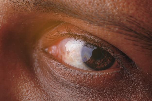 Menselijk oogclose-up