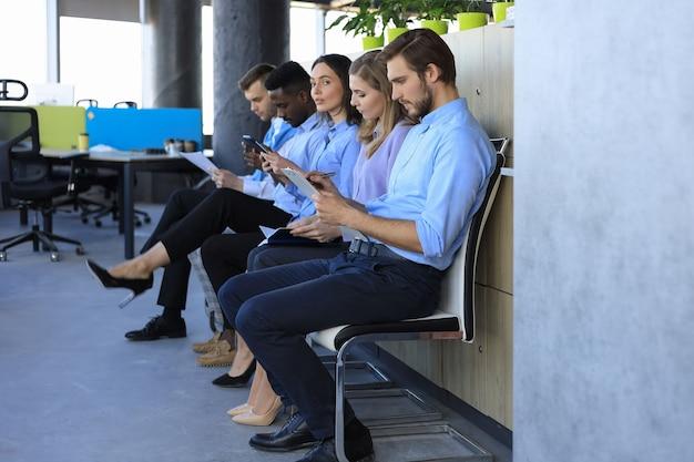 Menselijke mensen middelen interview werving job concept