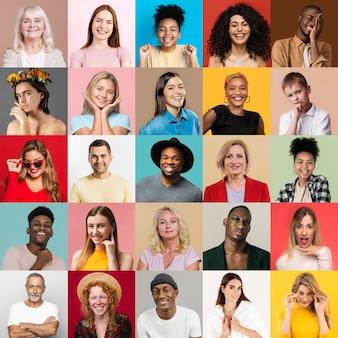 Mensen collage ontwerp