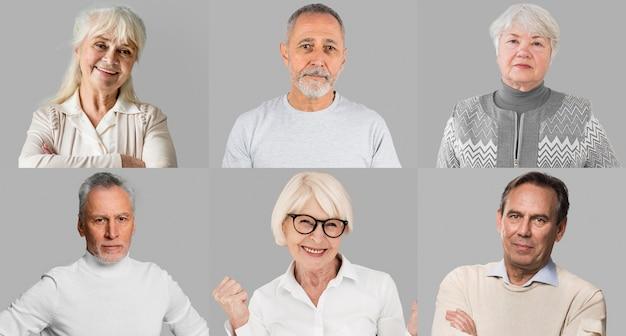 Mensen collectie collage Premium Foto