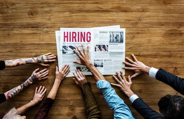 Mensen die op zoek zijn naar een baan