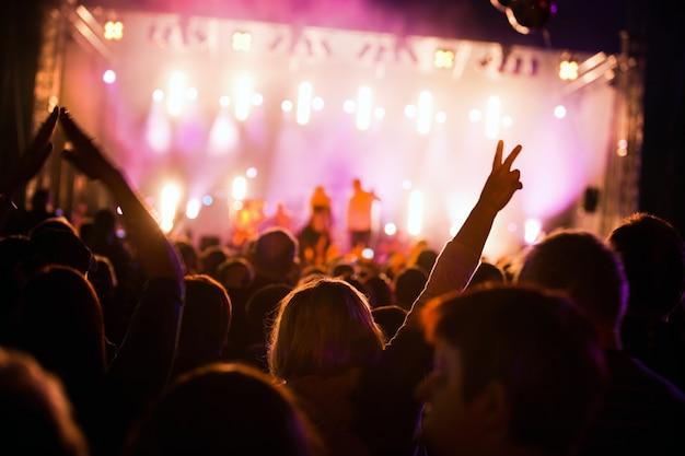 Mensen in een festival