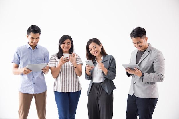 Mensen met een gadget