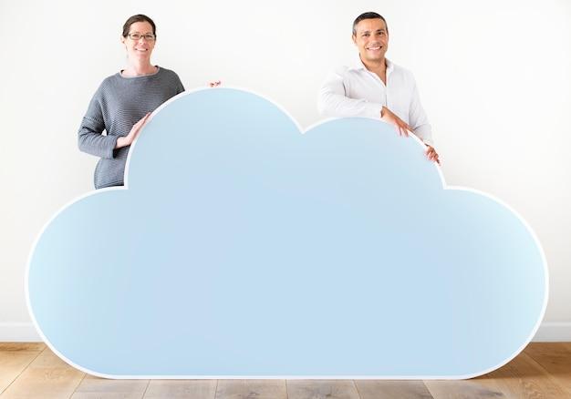 Mensen met een wolk-pictogram