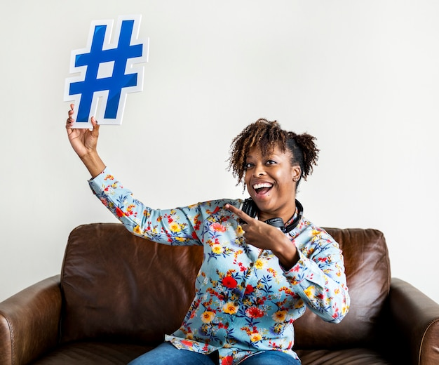 Mensen met hashtag symboolpictogram