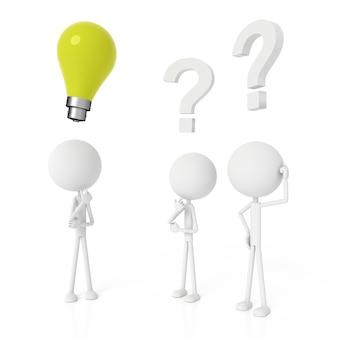 Mensen model en hebben ideeënconcept