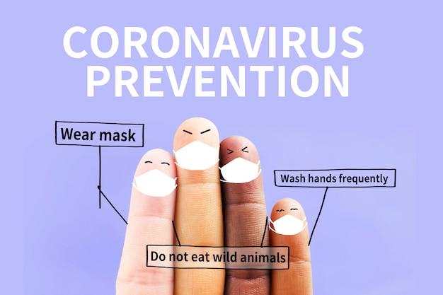 Mensen over de hele wereld werken samen om het concept van coronavirus te voorkomen