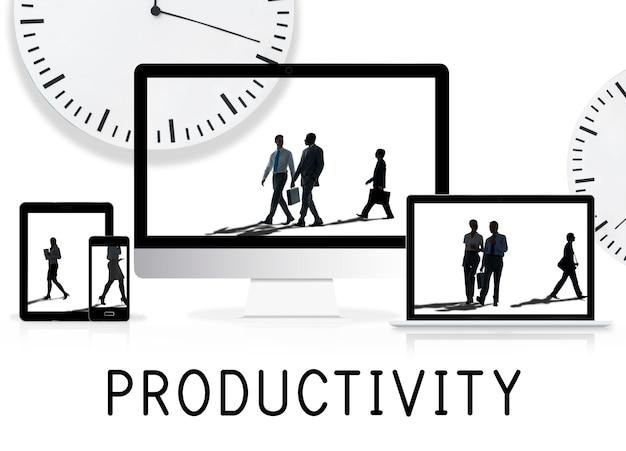 Mensen silhouet time management concept
