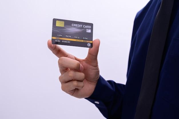Mensen uit het bedrijfsleven hebben een creditcard