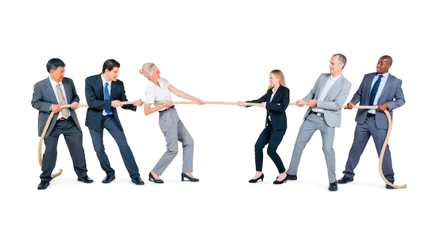 Mensen uit het bedrijfsleven in competitie