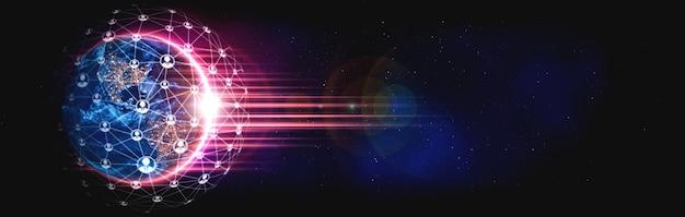 Mensennetwerk en wereldwijde aardeverbinding in innovatieve perceptie