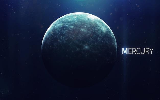Mercurius - hoge resolutie prachtige kunst presenteert de planeet van het zonnestelsel