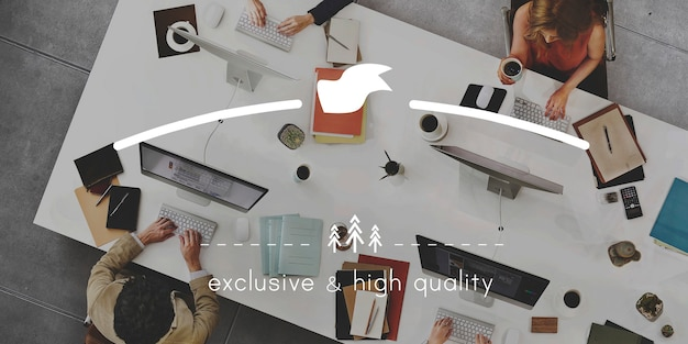 Merkbranding exclusief concept van hoge kwaliteit