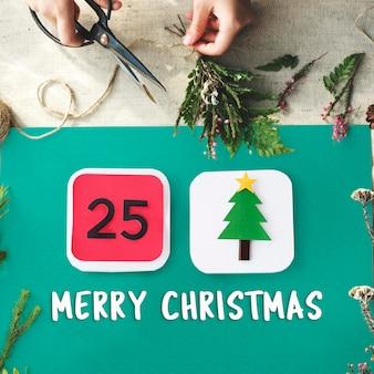 Merry christmas celebration familievakantie feestelijk concept
