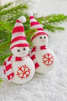 Merry christmas speelgoed sneeuwpop