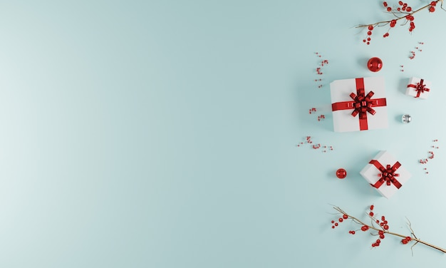 Merry christmas wenskaart achtergrond met decoratie
