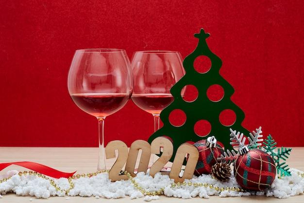 Merry new year 2020 decoratie achtergrond