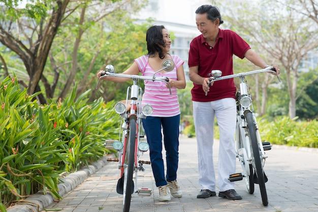 Met fietsen