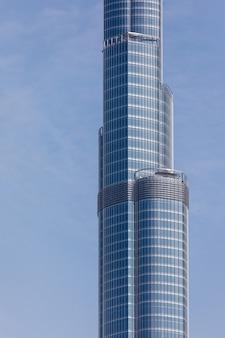 Met het oog op een hoogste toren ter wereld burj khalifa, dubai, verenigde arabische emiraten