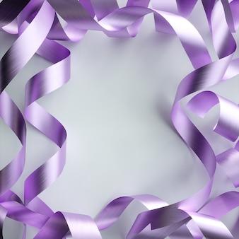 Metaal kronkelig frame op witte achtergrond. 3d-afbeelding