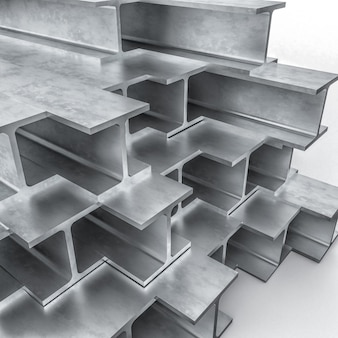 Metalen balk 3d