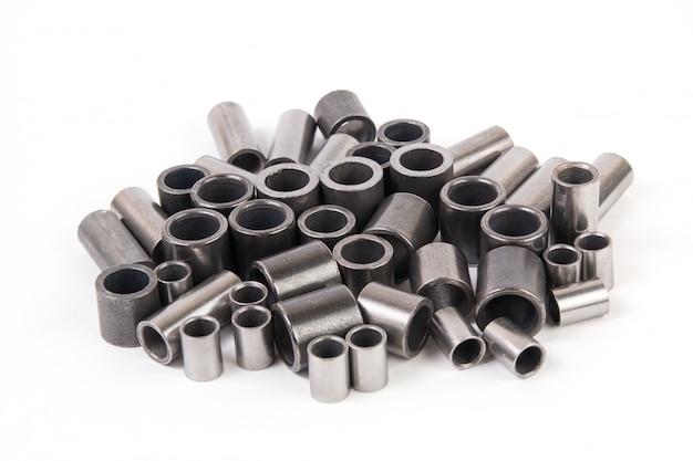 Metalen cilinders - elementen van de industriële rollenaandrijfketting